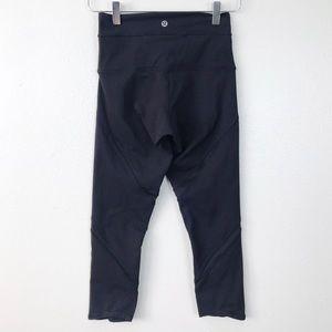 Lululemon Black High Waisted Capri Leggings